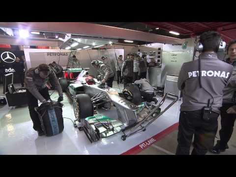 F1 2012 - Mercedes AMG F1 W03 launch - Launch & test at Barcelona