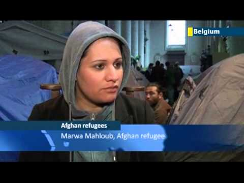 EU Illegal Immigration: Hundreds of Afghan asylum seekers set up protest camp in Brussels church