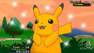 Pokemon X And Y Catching Shiny Pikachu! [ CRITICAL CATCH