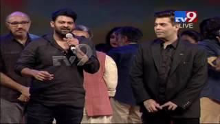 Prabhas heaps praise on Karan Johar @ Baahubali 2 Pre-Rele..