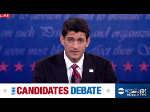 Vice Presidential Debate 2012: Paul Ryan Says Obama Had His Chance