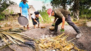 Ancient MAYAN FOOD - Jungle Cooking in MAYA VILLAGE in Quintana Roo, Mexico!