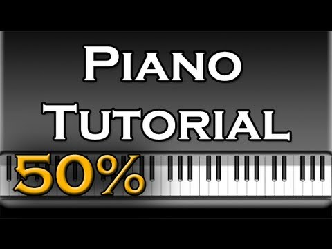 Daft Punk ft. Pharell Williams - Get Lucky (Advanced) Piano Tutorial [50% speed] (Synthesia)
