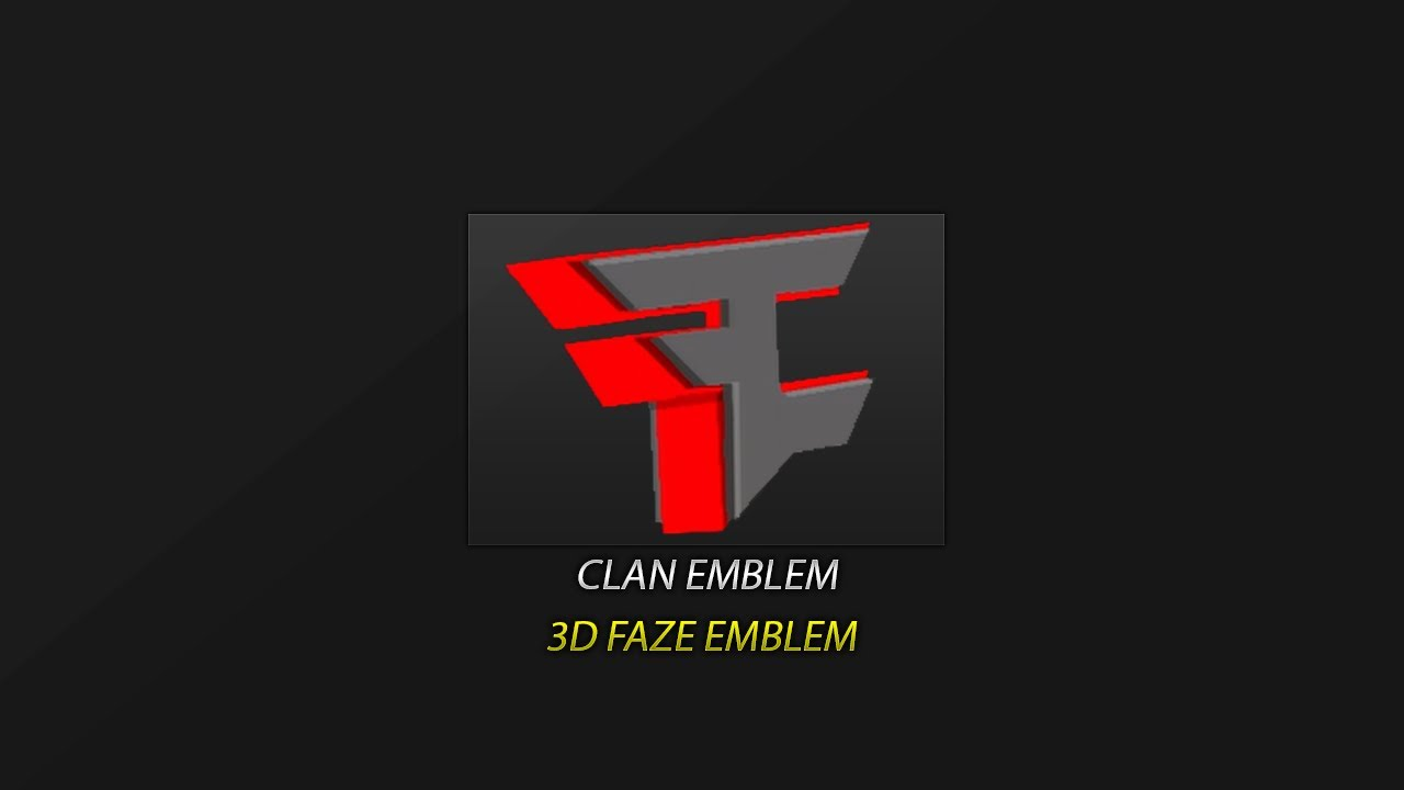 black ops 2 emblem tutorial faze logo 3d hd best