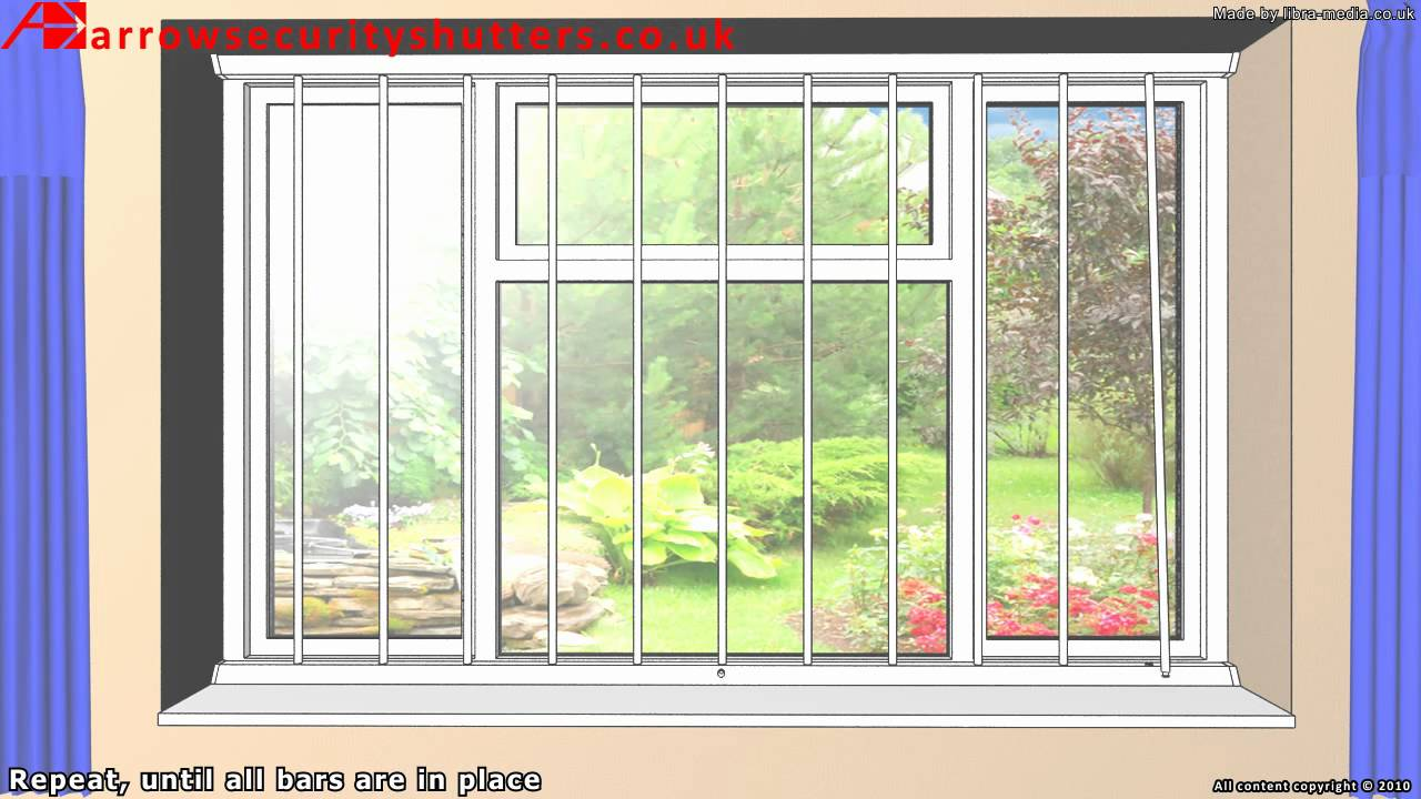 Removable Security Window Bars Window Grilles Youtube