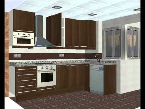 Dise o de cocinas en 3d youtube for Disenos de cocinas
