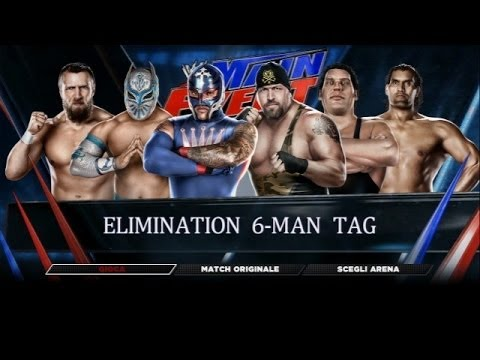 WWE 2K14 - Rey Mysterio, Sin Cara & Daniel Bryan vs Big Show, Great Khali & Andre The Giant