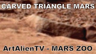 Mars Triangle: Carved Ancient Alien Glyph: Curiosity Rover