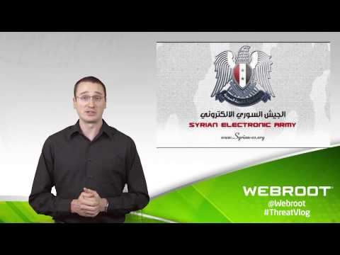 Webroot ThreatVlog - New York Times, Twitter, and Huffington Post hacked by Syrian Electronic Army