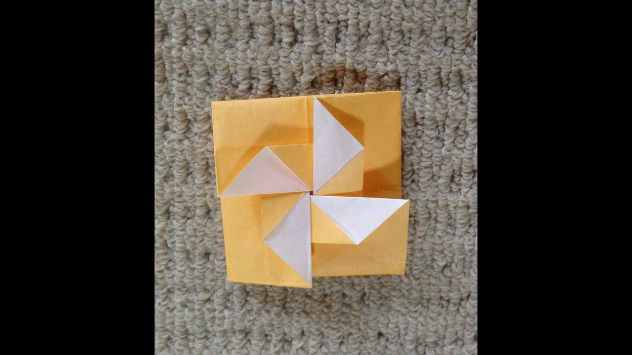 すべての折り紙 折り紙 風車 作り方 : 折り紙 手紙 風車 折り方 ...