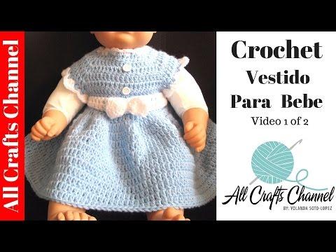 Como tejer un vestido para bebe en crochet   (video 1)