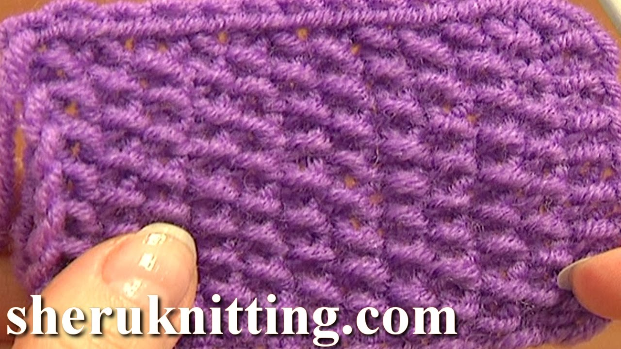 Knitting Adding Stitches In The Middle Of A Row : Knitting Stitch Pattern for Beginners Tutorial 2 Knitting Stitches - YouTube
