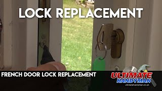 How to replace a French door lock