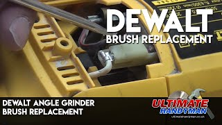 How to replace the brushes in a Dewalt Angle grinder | Dewalt DW 490