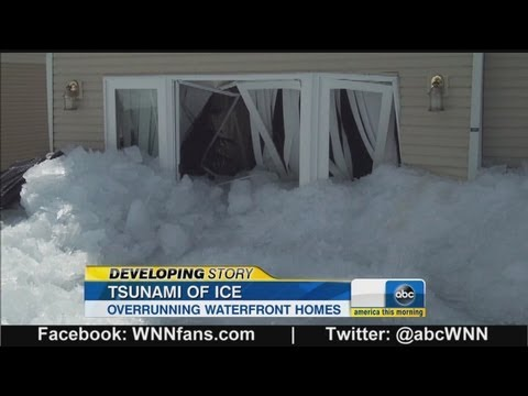 Ice Tsunami Slams Cottages in Canada