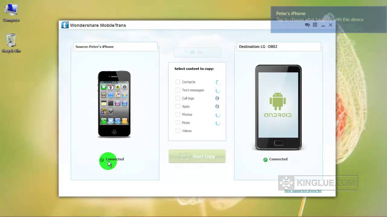 How To Transfer Iphone Sms Text Messages To Android Tutorial