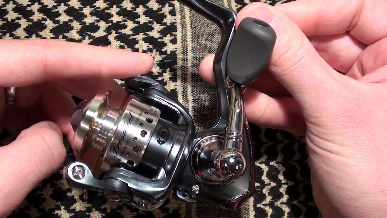 Pflueger president micro spinning reel youtube for Micro fishing reel