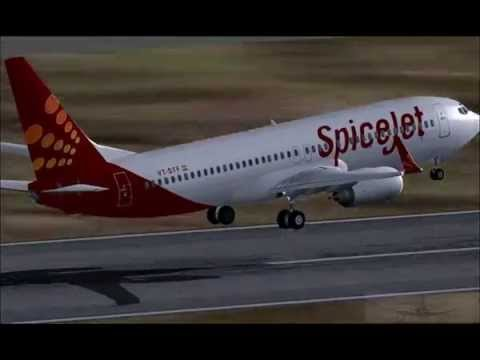 SpiceJet 737 Take Off & Landing Delhi Airport FSX