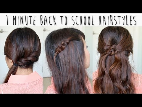 1 Minute Back to School Hairstyles