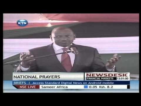 President Uhuru Kenyatta and  William Ruto lead Kenyans in Prayers