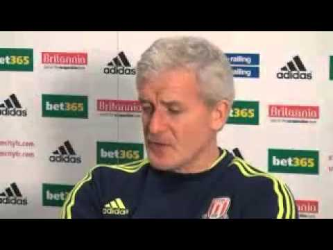 Stoke VS Fulham | Mark Hughes Pre-match interview