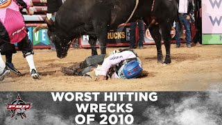 Worst Bull Riding Wrecks of 2010 (PBR)