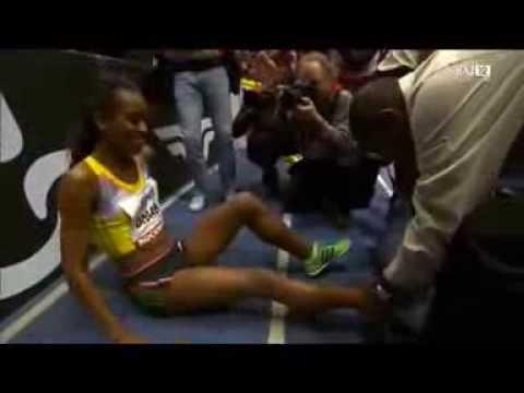 Ethiopia's Genzebe Dibaba smashed the world indoor 3000m