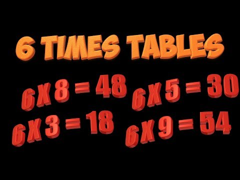 Multiplication song 6 times tables youtube for Table 6 song