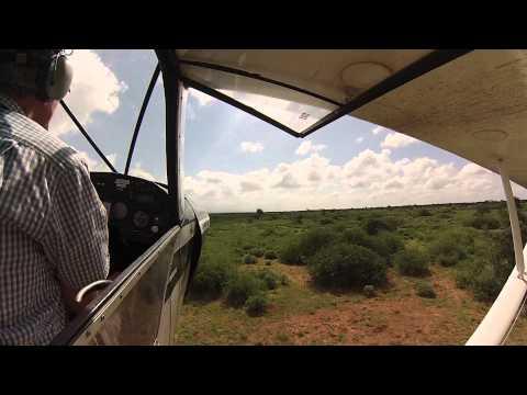 Supercub PA-18 Crash landing, Kenya, Africa
