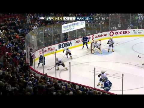 Nashville Predators vs Vancouver Canucks (23.01.2014)