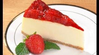 Rico pastel de queso frío