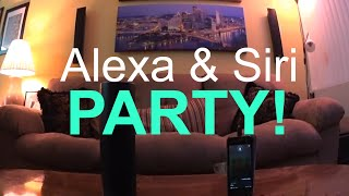Amazon Echo's Alexa and Siri Party