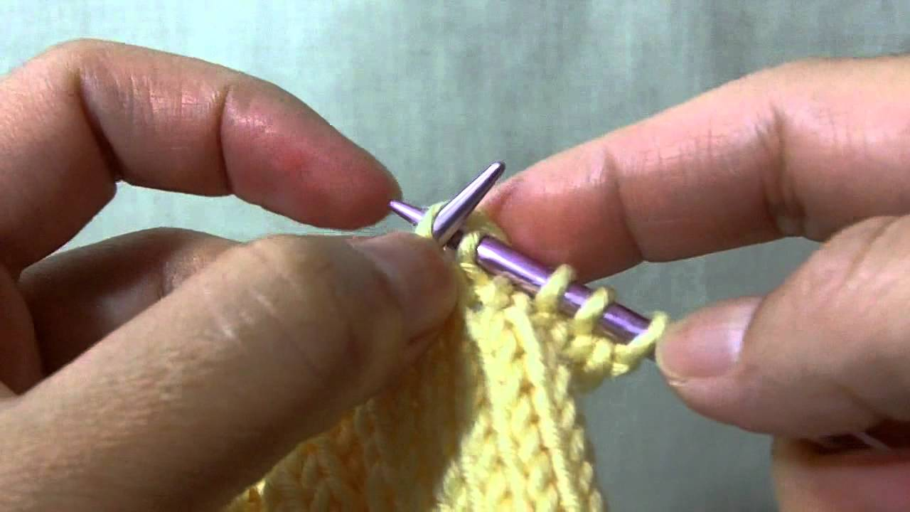 Knitting Yfwd Psso : How to knit skpo aka skp s k psso left leaning