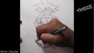 Cómo Dibujar A GOKU Dibujo Anime Manga ( Dragon Ball