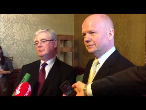 Tanaiste Eamon Gilmore and Foreign Secretary William Hague