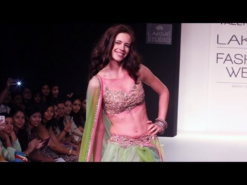 Kalki Koechlin walks for Lakme Fashion Week 2013