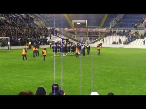 Racing de Santander - Real Sociedad Jugadores parados contra el Consejo de Administración en HD COPA