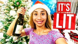 MAKING ALCOHOLIC CHRISTMAS DRINKS  | MYLIFEASEVA VLOGMAS DAY 4