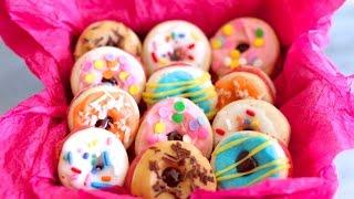 "French Macaron ""Donuts"" (Easy to Make Recipe) - Gemma's Bigger Bolder Baking Ep. 23"