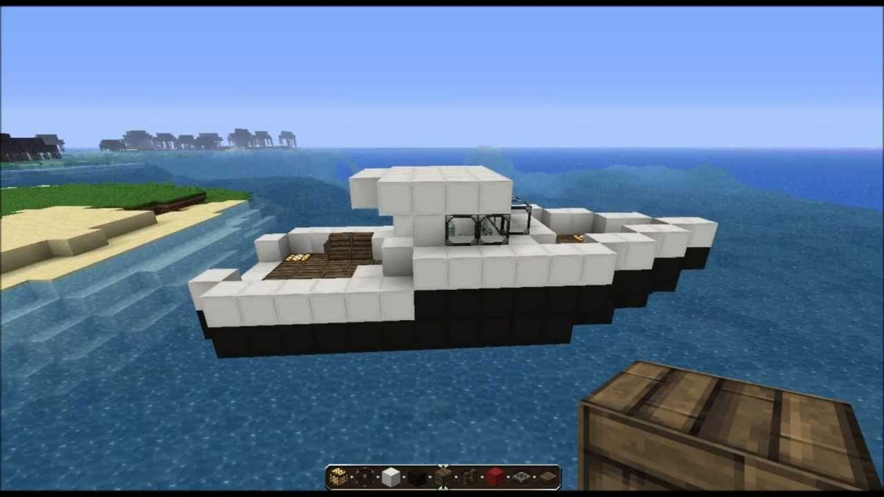 How to make a boat on minecraft computer 64
