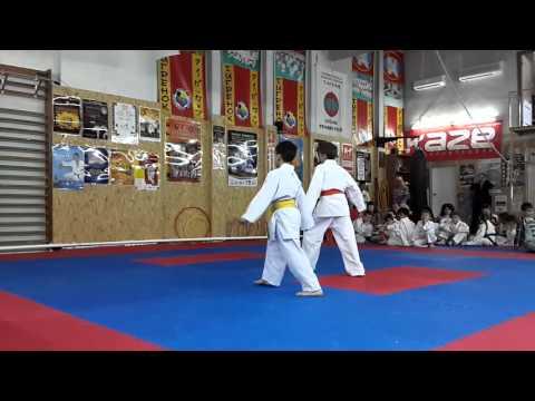Аттестационный экзамен по каратэ в клубе Тигренок 24.04.2016 г. ч 3