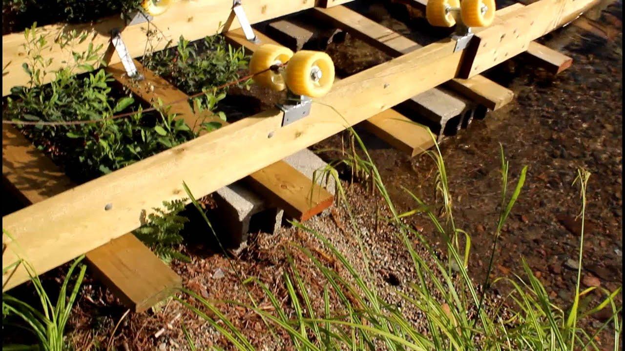 Shore docker ramp built - YouTube