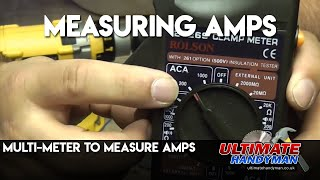 How to measure amperage
