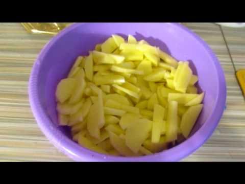 Жареная картошка с белыми грибами