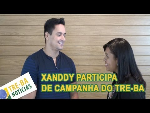 TRE-BA Notícias: Cantor Xanddy participa de campanha
