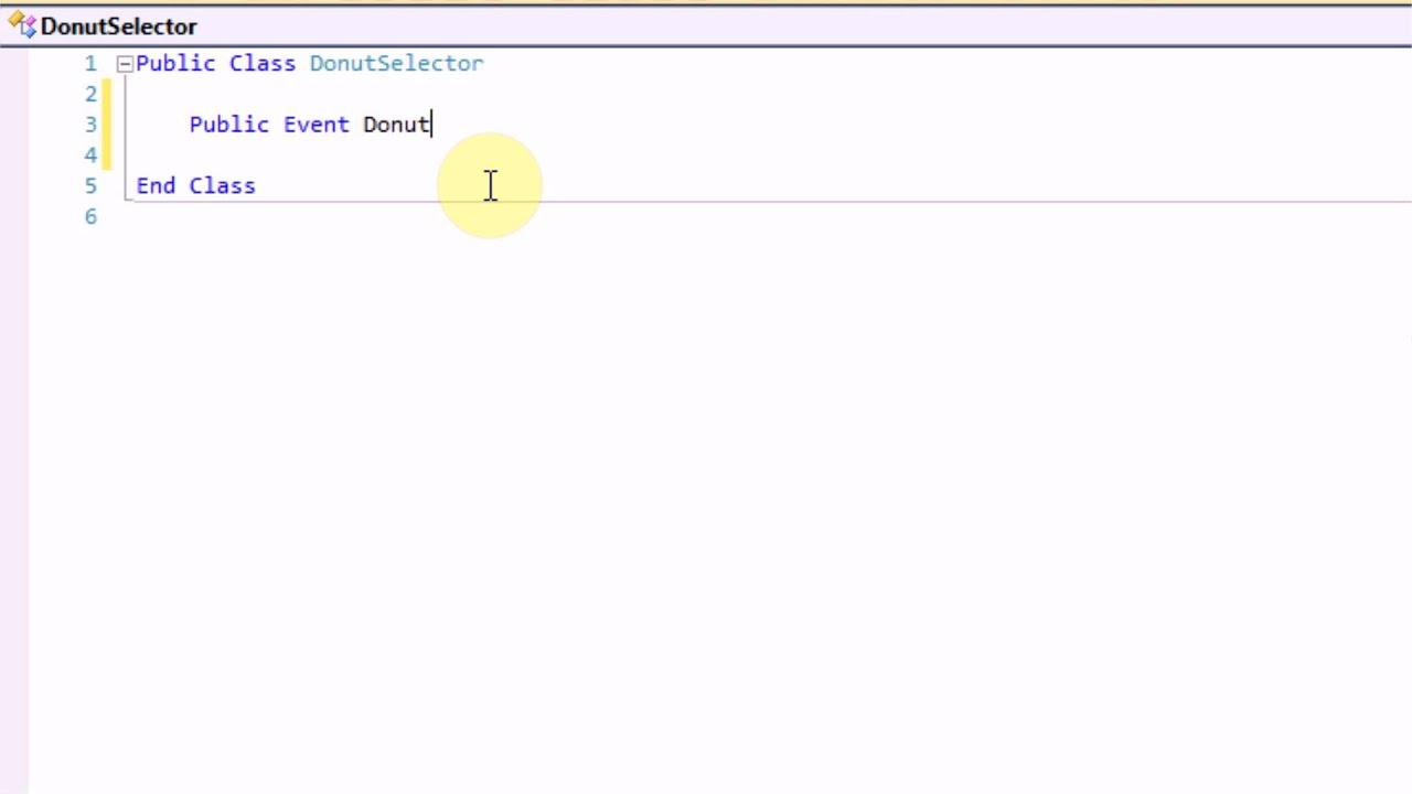 How to write custom events in vb net