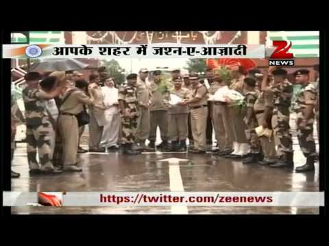 Zee News: Sweets exchanged at Wagah Border on Independence Day