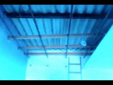 VDO00431 Rebaixamento de gesso em telha de amianto.