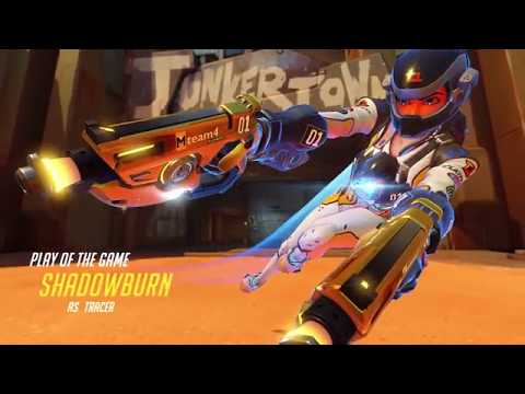 Overwatch Shadowburn's Tracer play of the game