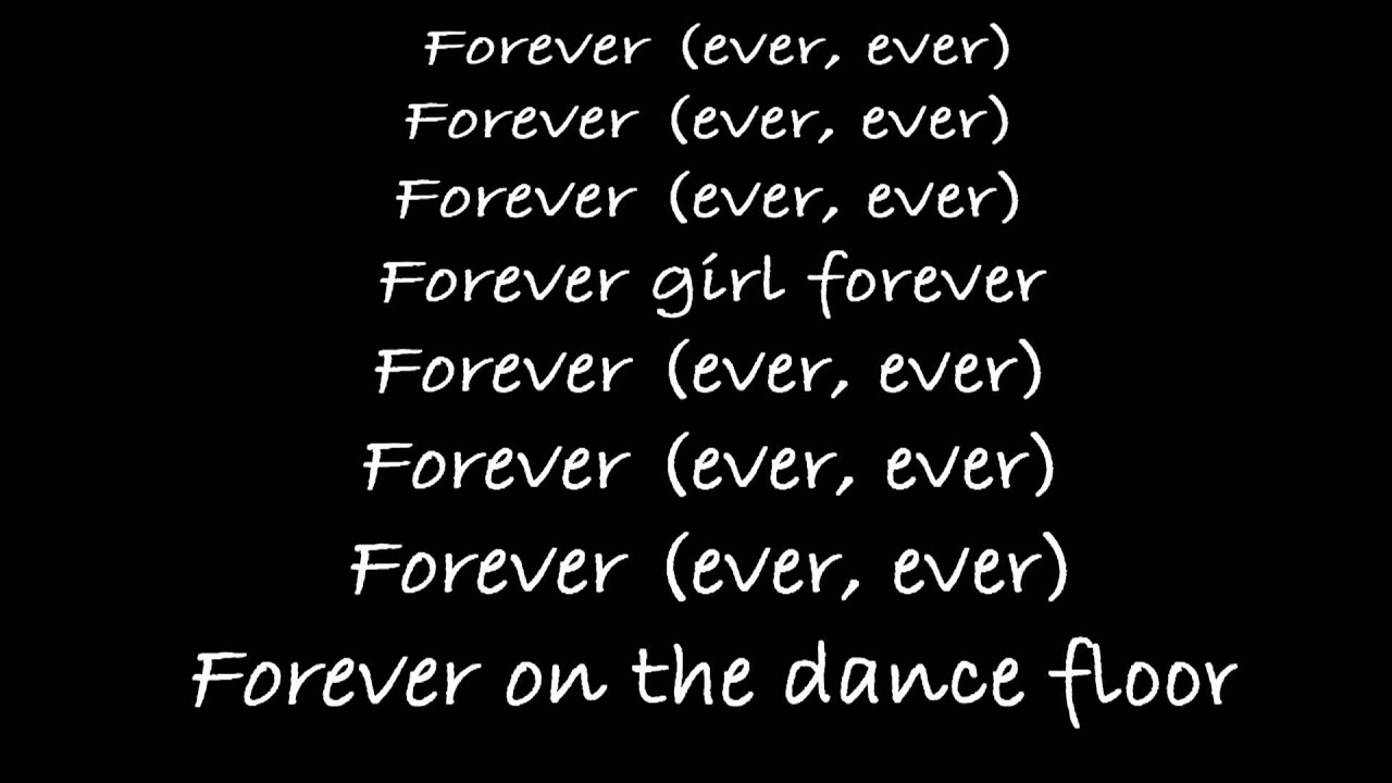 chris brown forever lyrics youtube
